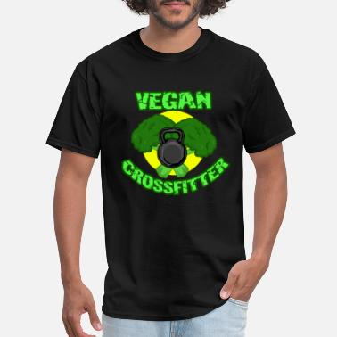 Push Up Vegan Crosstraining Workout Organic Gift Fitness - Men's T-Shirt