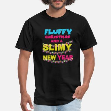 Slimy Slime Makers Christmas New Year Fluffy Kids Teens - Men's T-Shirt