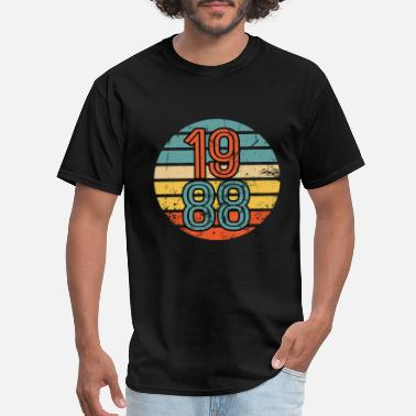 Vintage 1990 1988 Birthday Year Retro Vintage Distressed Gift - Men's T-Shirt