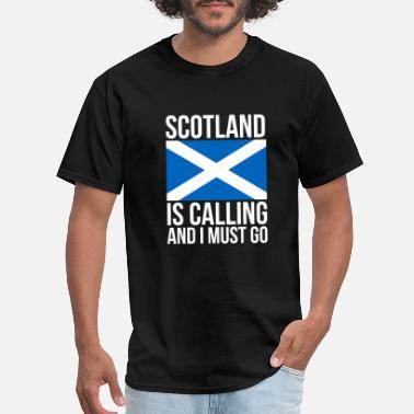 Calling Funny Scottish Tshirt Scotland is Calling and I - Men's T-Shirt