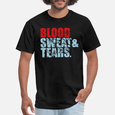 Crying Blood scratch tears sweat blood blood cry tears beam blo - Men's T-Shirt