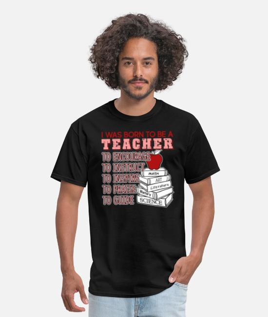 Teacher T-Shirts - Teacher Shirt - Men's T-Shirt black