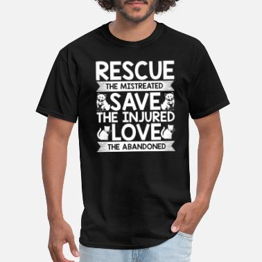 Rescue Cat Mom Dog Rescue | Cat Rescue | Save The Injured Pets - Men's T-Shirt