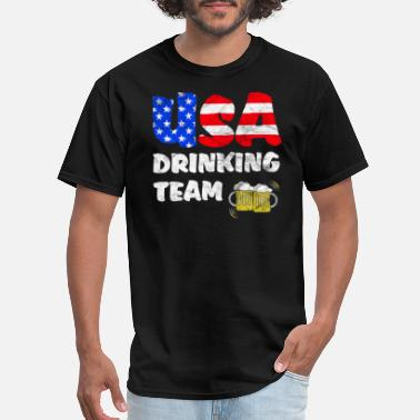 Team No Days Off USA Drinking Team Funny Independence Day Gift - Men's T-Shirt