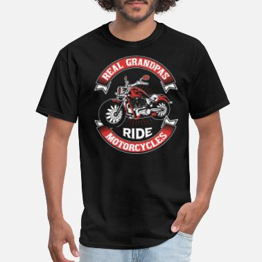 Ride Grandpa Real Grandpas Ride Motorcycles - Men's T-Shirt