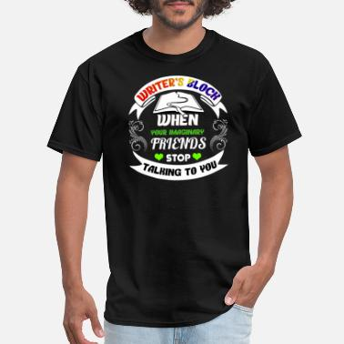 Writers Block Writer's Block and Imaginary Friends - Men's T-Shirt