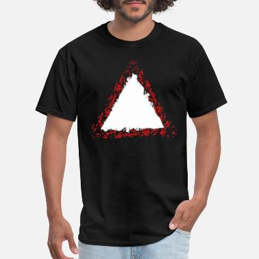 Formerly warning sign border outline triangle shape symbol - Men's T-Shirt