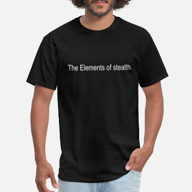 Stealth Geek The Elements of stealth - Men's T-Shirt