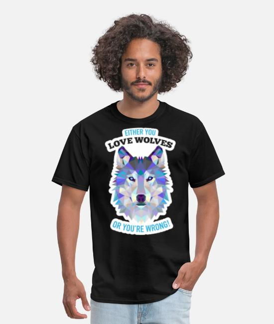 Cub T-Shirts - Wolves Wolf Gift Idiea - Men's T-Shirt black