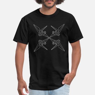 ccc8a4ae origami crane birds pattern paper folding gift - Men's T-Shirt