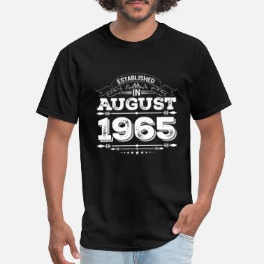55th Birthday Gifts Presents Year 1965 Mens Ringer Vintage Retro T-Shirt Aged To