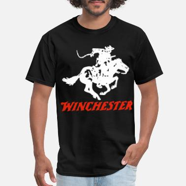 Winchester Rifle Neck Men New Winchester Rifle Men s Comes In Many - Men's T-Shirt