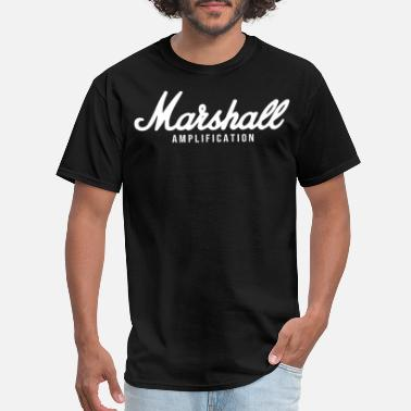Marshall Amp rock band guitar drum metal black Dru - Men's T-Shirt