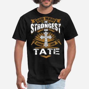 god made the strongest and tate jesus - Men's T-Shirt