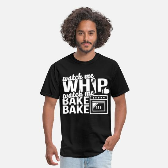 Bear Grill T-shirts T-Shirts - watch me whip watch me bake chef bbq - Men's T-Shirt black