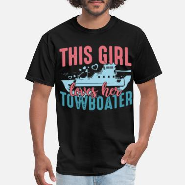 This Girl Loves Her Girlfriend this girl loves her towboater girlfriend - Men's T-Shirt