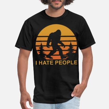 I Hate Jesus i hate people anthropoid live in moutain science - Men's T-Shirt