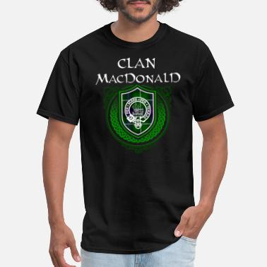 Scottish MacDonald Surname Scottish Clan Tartan Crest Badge - Men's T-Shirt