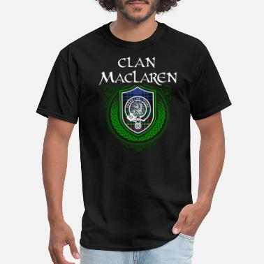 Celtic Knot MacLaren Surname Scottish Clan Tartan Crest Badge - Men's T-Shirt