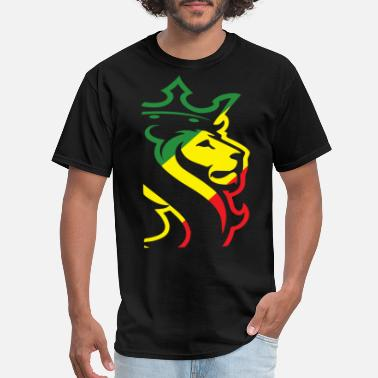Art-design-big-tall OGABEL OG ABEL BIG LION RASTA JAMAICAN WEED HYPE D - Men's T-Shirt
