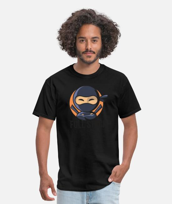 Computer Code T-Shirts - Full Stack Ninja - Men's T-Shirt black