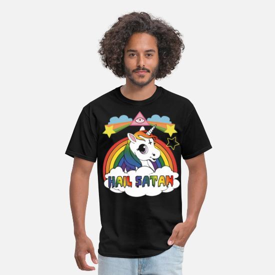 d59287204 Satan T-Shirts - hail satan offensive t shirts - Men's T-Shirt black