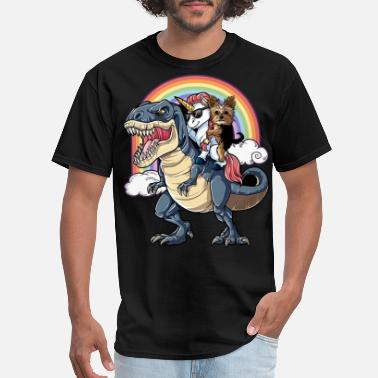 Gay Cats Yorkshire Terrier animals rainbow scare ainime din - Men's T-Shirt
