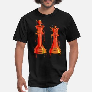 Chess Pattern Chess Queen King Chess Game Chess Pattern Gifts - Men's T-Shirt