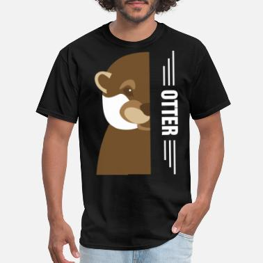 otter grandma - Men's T-Shirt