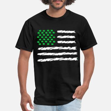 Dope Flag Marajuana American Flag Dope Nation Black Tank Top - Men's T-Shirt
