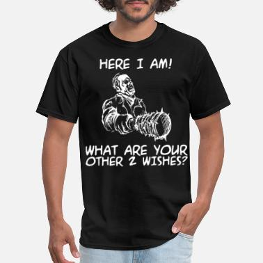 Bad Mood Meme here I am what are your other 2 wishes meme t shir - Men's T-Shirt