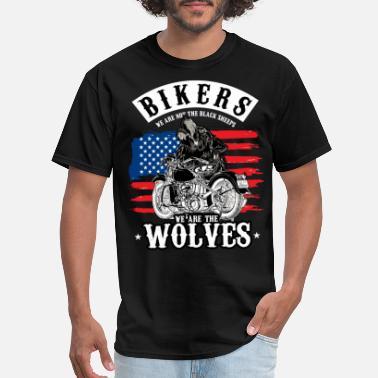 d28a7a02 Wolf Chrome Bikers Bike Chopper Motorcycle Gift - Men's ...