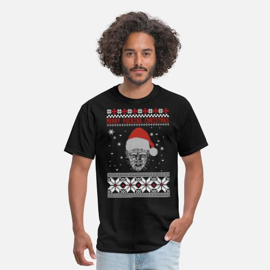 Christmas T-Shirts - Hellraiser Christmas - Merry fucking Christmas - Men's T-Shirt black
