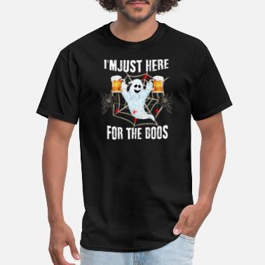 Ghost Drink Beer I'm Just Here For Boos Ghost Beer Halloween Gift - Men's T-Shirt