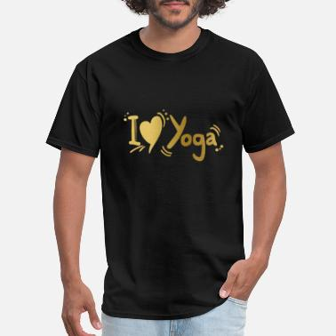 Rubinaworld I love Yoga - Men's T-Shirt