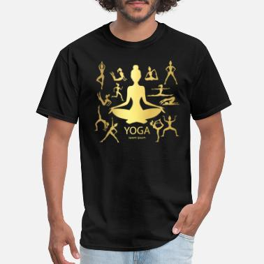 Rubinaworld Yoga Woman Poses - Men's T-Shirt