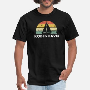 Nautical Kobenhavn Copenhagen T-Shirt, Vintage Sailboat - Men's T-Shirt