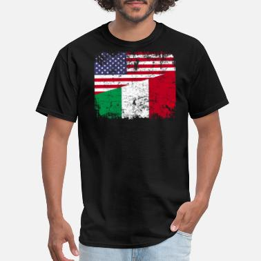 American With Italy Roots ITALIAN ROOTS | American Flag | ITALY Gift - Men's T-Shirt
