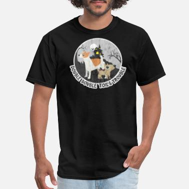 Double Trouble Double Double Toil & Trouble Halloween Dog Shirt - Men's T-Shirt