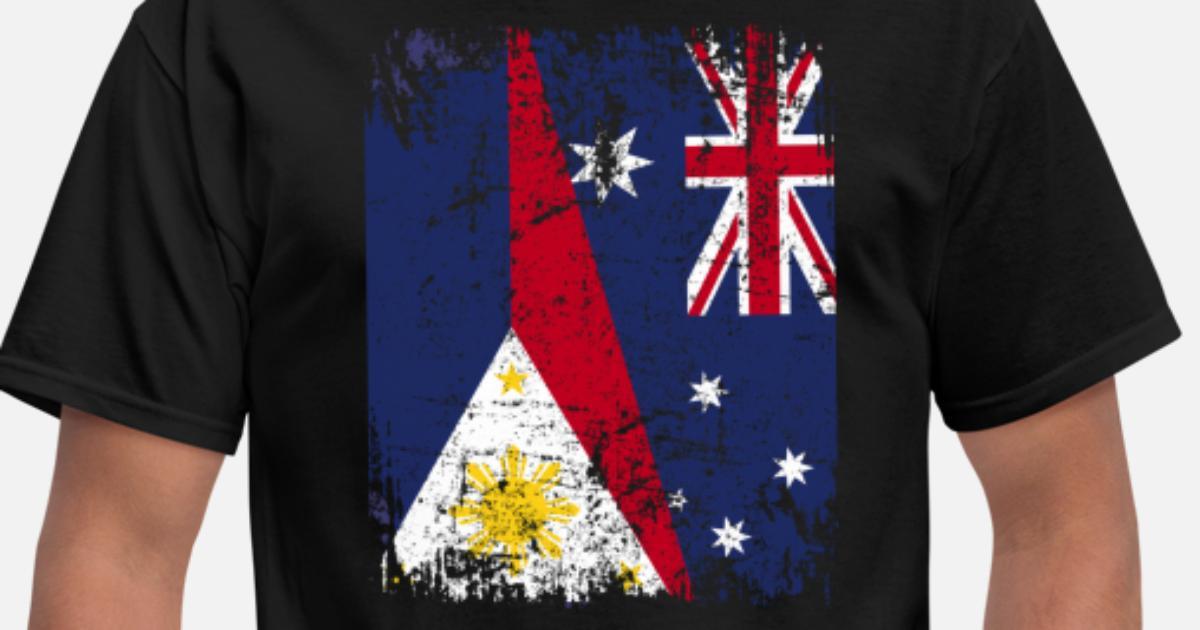 Australia Philippines Flag Half Filipino Men S T Shirt
