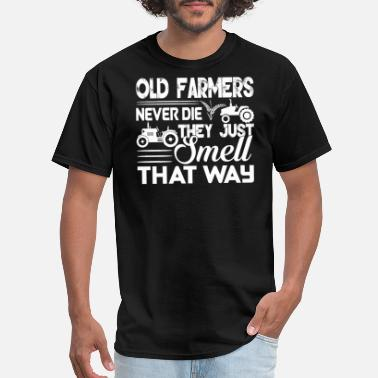 Never Die Old Farmers Never Die - Men's T-Shirt