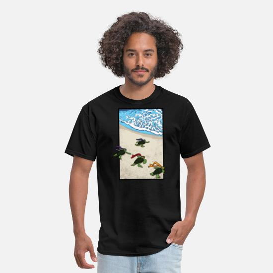 Turtle T-Shirts - Funny Cute Turtles Cute Ninja Reptile Pet Tortoise - Men's T-Shirt black