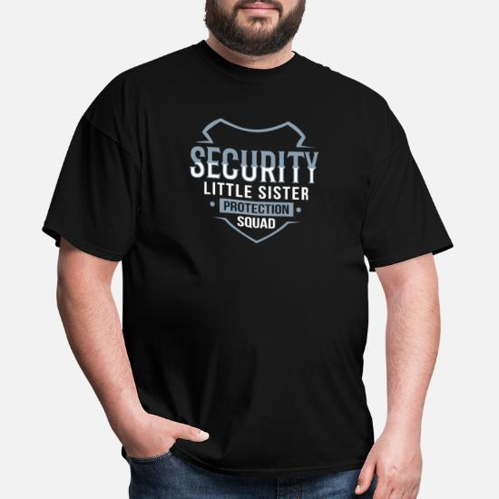 Security for My Little Sister Kids T-Shirt with Stickers Gift for Big Brother