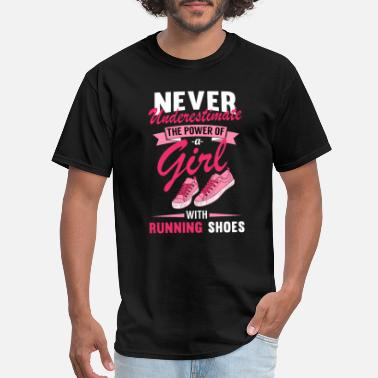 Girl Running Running Girl - Men's T-Shirt