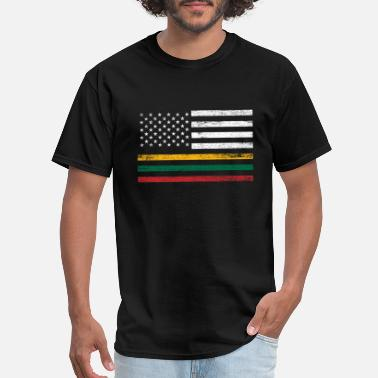 Indo America And Lithuania Flag - Men's T-Shirt