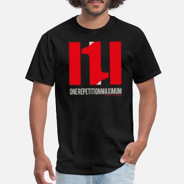 Repetition 1 RM One Repetition Maximum Bodybuilder Fitness - Men's T-Shirt