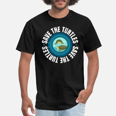 Sealife Save the Turtle Protest March - Men's T-Shirt