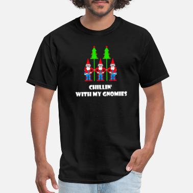 Gnomie Chillin' With My Gnomies T-Shirt Christmas Holiday - Men's T-Shirt