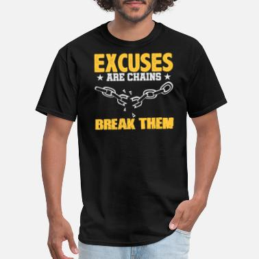 b338f2047f Breaking Chains Excuses Are Chains Break Them Volleyball T-Shirt - Men'