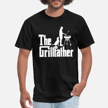 Grill The Grillfather Funny BBQ Grilling Gift for Dad - Men's T-Shirt